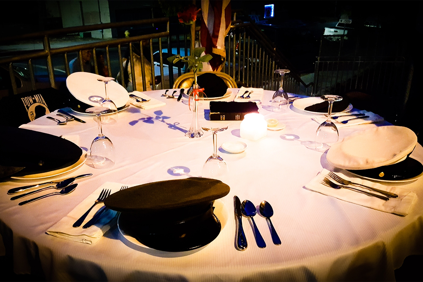 The place settings for our 2017 POW/MIA Ceremony.